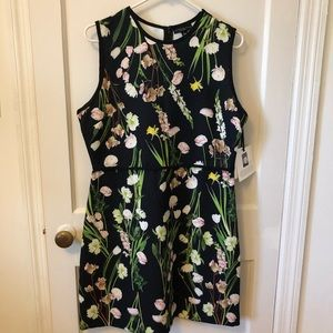 Victoria Beckham Target English Floral Satin Dress